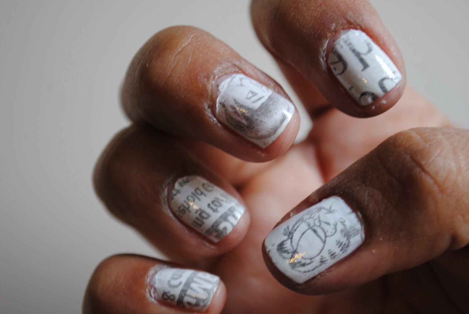 Маникюр для коротких ногтей черно-белый